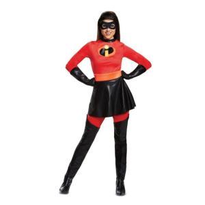 Mrs.インクレディブルの大人用コスチュームです。ジャンプスーツ、スカート、アイマスクのセットです。...