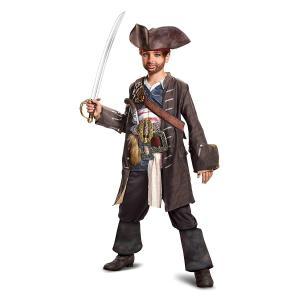 キャプテン・ジャックスパロウのキッズ用コスチュームセットです。ジャケット、チュニックベスト、帽子、ズ...
