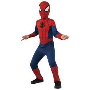 アルティメット・スパイダーマン の子供用コスチュームです。マスク付きのジャンプスーツです。ポリエステ...
