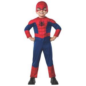 アルティメット・スパイダーマン の筋肉モリモリ の子供用マスク付きジャンプスーツです。ポリエステル製...