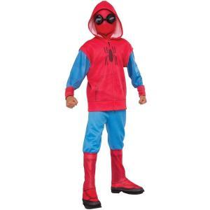 """スパイダーマン:ホームカミング 子供用""""ホームメイド・スーツ""""コスチュームです。ゴーグル付きマスク、..."""
