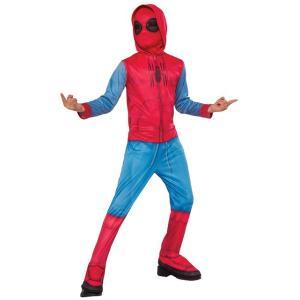 """スパイダーマン:ホームカミング 子供用""""ホームメイド・スーツ""""コスチュームです。マスク、フード付きシ..."""