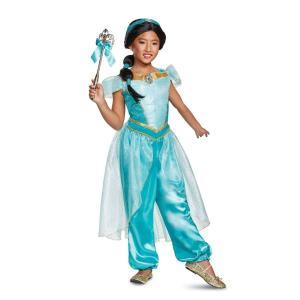 アラジンのジャスミンの子供用ジャンプスーツコスチュームです。  *ウィッグ、ワンド、靴は含まれており...