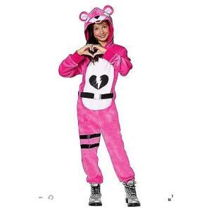 ハロウィン コスプレ 子供 ピンクのクマちゃん コスチューム フォートナイト Fortnite  ジュニア キッズ 子供 イベント 衣装 テレビゲーム|acomes