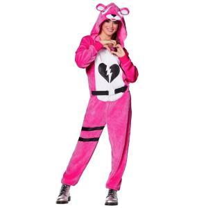 ハロウィン コスプレ ピンクのクマちゃん コスチューム フォートナイト Fortnite  大人  イベント 衣装 テレビゲーム|acomes