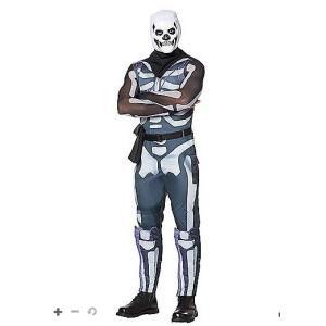スカルトルーパー コスチューム 服  フォートナイト Fortnite  大人 ハロウィン コスプレ イベント 衣装 テレビゲーム|acomes