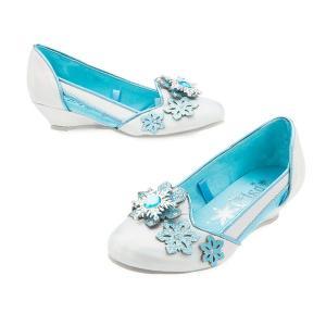 アナと雪の女王 エルサ 子供用 ウェッジ シューズ 靴 プリンセス ハロウィン ディズニー コスプレ 仮装|acomes