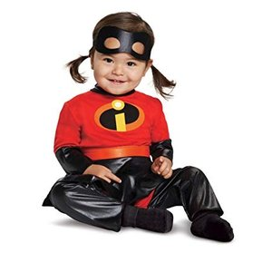 インクレディブル ヴァイオレットの幼児・子供用コスチュームです。アイマスク、ジャンプスーツ、スカート...