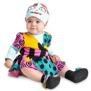 赤ちゃんディズニーコスチューム ナイトメアビフォアクリスマス サリー ベビー用  衣装 コスプレ ハロウィン 仮装 ディズニー|acomes