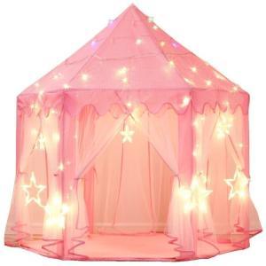 プリンセス ピンクテントハウス プレイハウス キッズテント 子供用テント 女の子|acomes