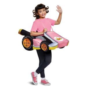 スーパーマリオブラザーズ マリオカート コスチューム ピーチ 子供 女の子 グッズ テレビゲーム
