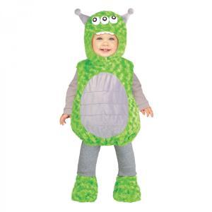 赤ちゃん 着ぐるみ グリーン エイリアン 宇宙人 コスチューム コスプレ ベビー 幼児 子供 子ども キャラクター 服 きぐるみ|acomes