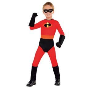 ダッシュの幼児・子供用コスチュームです。アイマスク(約14.6x5cm)、ジャンプスーツ、手袋(約2...