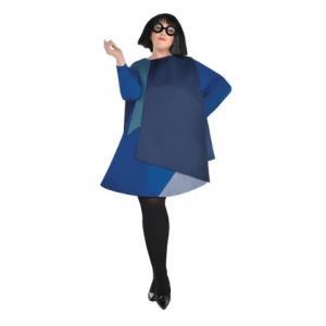 エドナのレディース用プラスサイズコスチュームです。ウィッグ、眼鏡、チュニックのセットです。  *タイ...