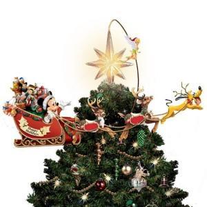 ディズニー クリスマスツリー トッパー タイムレス ホリデー トレジャー インテリア 飾り オーナメント ウインター シーズン|acomes