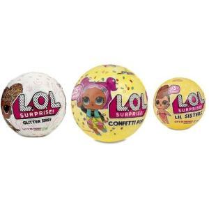 L.O.L. サプライズ! 3種類セットです。  *グリッターシリーズボール(7サプライズ入り) *...