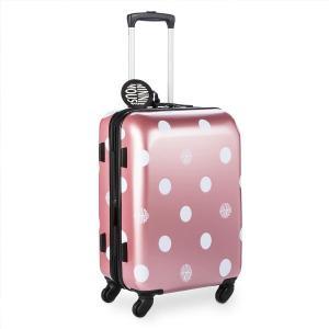 ミニーマウスのロゴとキュートな水玉のスクリーンアートのスーツケースです。ディズニー公式商品です。  ...