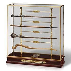 ハリーポッター グッズ 杖 4本&ディスプレイスタンド 炎のゴブレット ワンド ノーブルコレクション|acomes