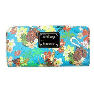 ラウンジフライとディズニーのコラボ、モアナと伝説の海デザインの財布です。8枚のカードポケット、2か所...