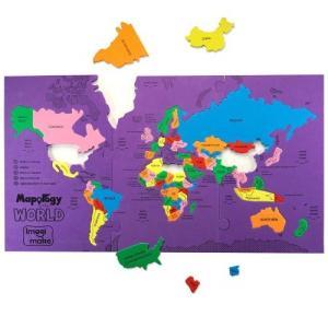 世界地図 パズル 子供 マップ  地理 学習 知育玩具|acomes