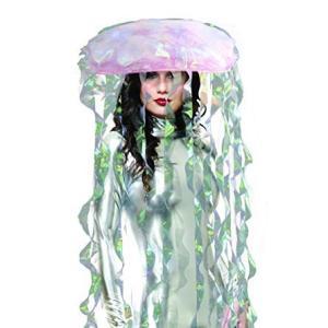 クラゲ グッズ ライトアップ かぶりもの 帽子 ヘッドウェア acomes