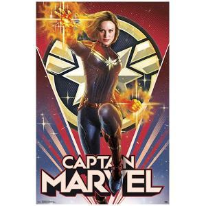 キャプテンマーベル ポスター Heroic ウォールポスター 56.8cmx86.3cm マルチ|acomes