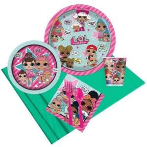 lolサプライズ グッズ パーティー 8パック 紙皿 紙コップ 誕生会 イベント|acomes