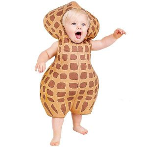 ハロウィン コスプレ 赤ちゃん 着ぐるみ コスチューム 食べ物 ピーナッツ  衣装 ベビー服|acomes