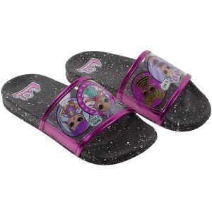lolサプライズ グッズ 靴 子供 サンダル ブラックピンク 4歳-10歳|acomes