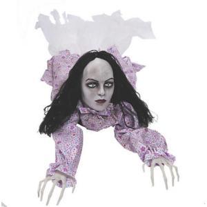 ハロウィン 飾り ゆっくり 這う 動く 少女 人形 不気味 怖い 恐怖 デコレーション 装飾 アニマトロニクス acomes