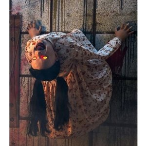 アニマトロニクス ハロウィン 飾り 血に飢えたベティ 不気味 動く 人形 お化け屋敷 66cm|acomes