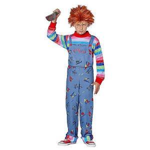 チャッキーの子供用コスチュームです。ウィッグ、シャツ付きジャンプスーツのセットです。  *メイク、小...