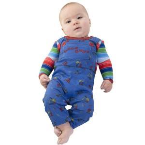 チャイルドプレイ 衣装 チャッキー ベビー ハロウィンコスチューム 赤ちゃん コスプレ 12カ月|acomes