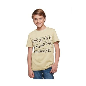 ストレンジャー シングス アルファベットウォール Tシャツ 子供|acomes