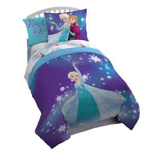 アナと雪の女王の布団セット、セミダブル/ダブルサイズマジカルウィンター布団セットです。洗濯機で洗えて...