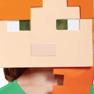 マインクラフト アレックス 子ども マスク ハロウィン 衣装 コスプレ コスチューム 仮装 パーティー グッズ キッズ マイクラ 被り物 テレビゲーム|acomes