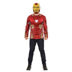 アベンジャーズ エンドゲーム アイアンマン 上半身 コスチューム 大人 衣装 ハロウィン コスプレ 仮装 スーツ ヘルメット マスク|acomes