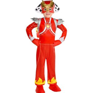 パウパトロール マーシャル コスプレ 子供 ジャンプスーツ コスチューム 仮装 衣装|acomes