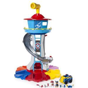 家 遊び 子供 パウパトロール おもちゃ マイサイズ ルックアウト タワー 回転ペリスコープ ライト&サウンド アクションビークル|acomes
