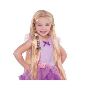 ラプンツェル コスプレ 子供 ウィッグ 花飾り付 かつら ディズニー ハロウィン acomes