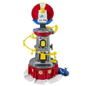 パウパトロール おもちゃ マイティパップス スーパーパウズ ルックアウトタワー プレイセット アクションビークル|acomes