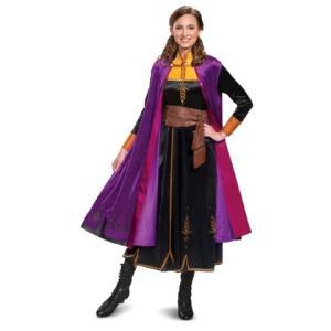アナと雪の女王 アナ雪 2 アナ ドレス 大人 コスチューム 衣装 コスプレ ディズニー公式|acomes