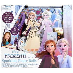 アナと雪の女王 おもちゃ 着せ替え マグネット 人形|acomes