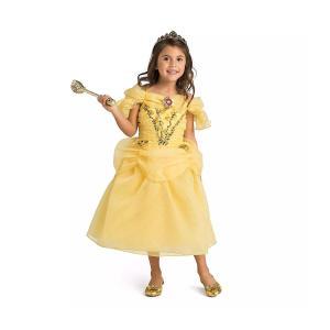 ディズニー コスチューム 子供 美女と野獣 ベル バラ付き ドレス プリンセス コスプレ 仮装 キッズ acomes