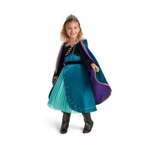 アナと雪の女王 アナ雪 2 アナ ドレス 子供 デラックスコスチューム 衣装 コスプレ ディズニー公式|acomes