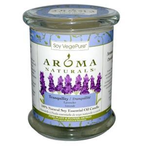 天然ソイ・エッセンシャルオイル・キャンドル Aroma Naturals, 100% トランクウィリティー ラベンダー|acomes