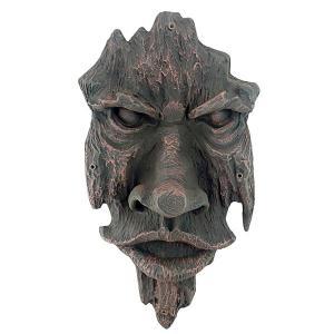 ノッティンガムウッズの精神 グリーンマンの木の彫刻 トリックアート 彫刻 ホーム インテリア エクステリア 屋外 庭 ガーデン 飾り 石像 オブジェ acomes