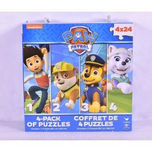 パウパトロール  おもちゃ パズル 4個セット 24、48ピース 子供 知育玩具 ギフト|acomes