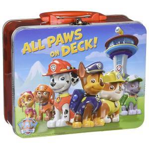 パウパトロール  おもちゃ パズル  24ピース  ランチボックス ブリキ 缶 ケース バッグ  子供 知育玩具 ギフト|acomes