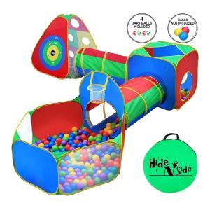 家 遊び 子供 おもちゃ 幼児用 ジャングルジム プレイテント トンネル付き 屋内 屋外|acomes